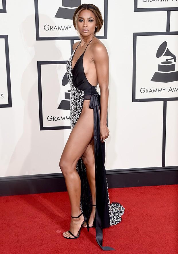 Ciara aposta em look ousado para o Grammy (Foto: Getty Images)