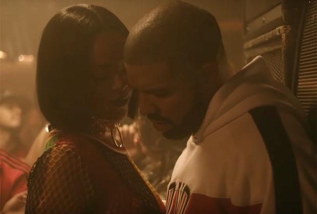 """Rihanna e Drake no clipe """"Work"""" (Foto: Reprodução Youtube)"""