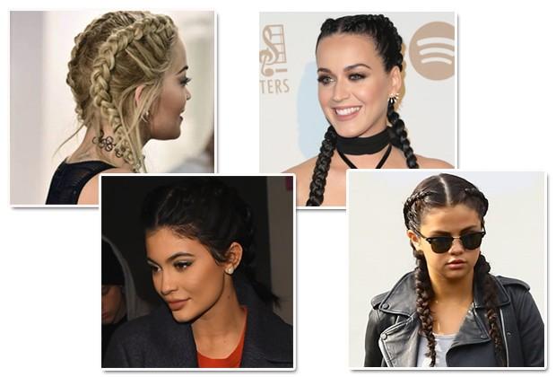 Rita Ora, Kylie Jenner, Katy Perry e Selena Gomez (Foto: Getty Images/Reprodução Instagram)