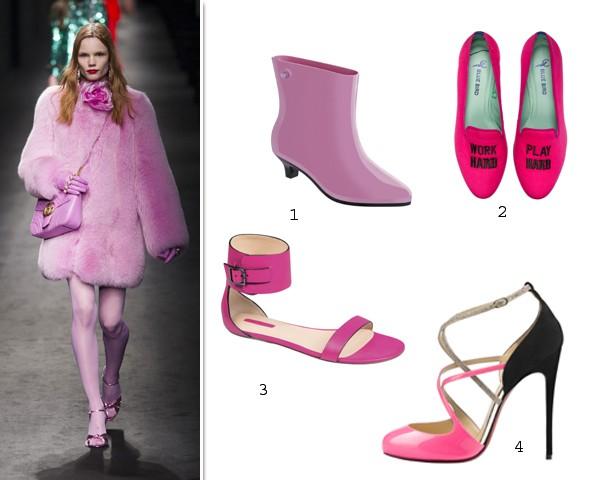 O desfile inverno 2016-2017 da Gucci. Look pink total! (Foto: Imaxtree/ Divulgação)