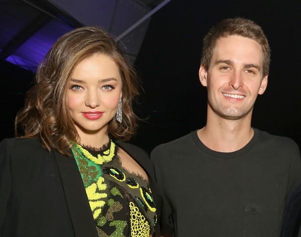 Miranda Kerr e Evan Spiegel (Foto: Getty Images)