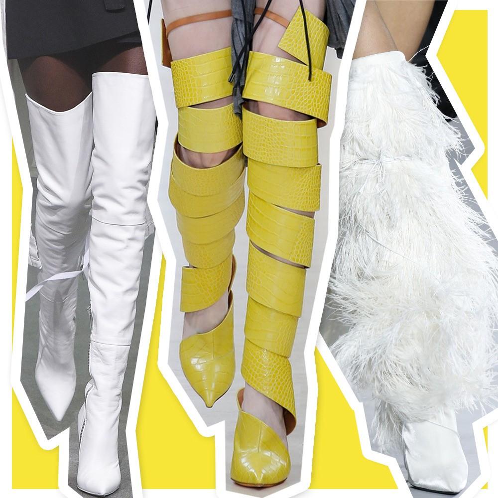 As botas da Semana de Moda de Paris (Foto: Getty Images)